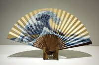 Japanese folding fan Sensu Ukiyoe with a stand any type
