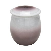 Cremation Urn Kutani Porcelain Ginsai purple Funeral Memorial H 14 cm