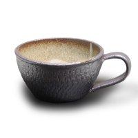 Shigaraki sd Japanese pottery tea mug coffee cup tetsu wide 360 ml