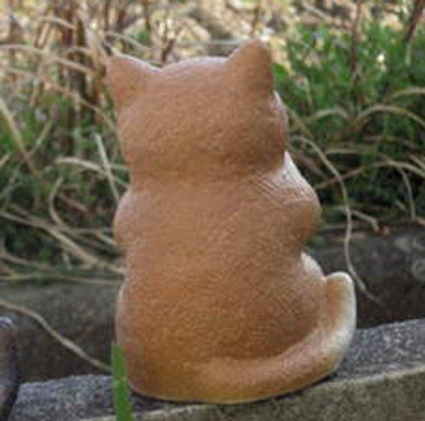 Photo2: Shigaraki pottery Japanese figurine neko Cute cat cha H 18cm