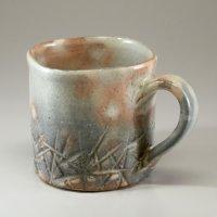 Hagi Senryuzan climbing kiln Japanese pottery mug coffee cup tebori hachi
