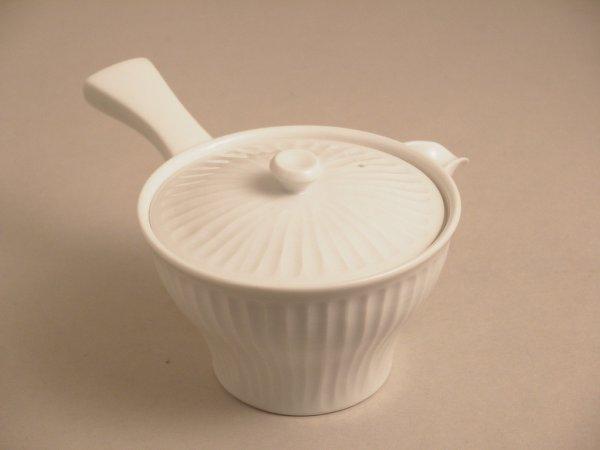 Photo1: Arita imari sd Porcelain Japanese tea pot white hakuji shinogi g 280ml