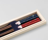 Echizen Japanese lacquer wooden chopsticks moon sakura cherry Gift Box set