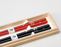 Echizen Japanese lacquer wooden chopsticks Sakura Cherry Blossoms Gift Box set