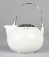 Japanese ceramics Dobin tea pot ZEROJAPAN white 1350ml