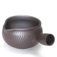 Banko Japanese tea pot Yusamashi shidei carved 350ml