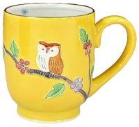 Kiyomizu Japanese porcelain mug coffee cup kikochi owl 210ml
