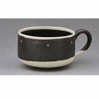 Kiyomizu Japanese pottery mug coffee cup yusai tenmon 280ml