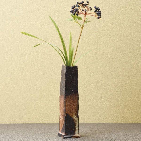 Photo1: Tokoname Japanese pottery vase entotsu yohen ishido H18.5cm