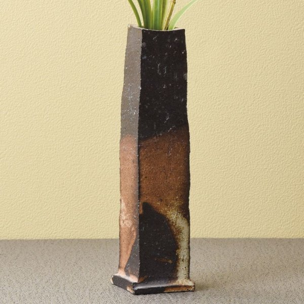 Photo2: Tokoname Japanese pottery vase entotsu yohen ishido H18.5cm