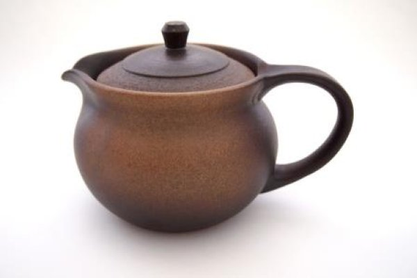 Photo2: Shikou tea pot Japanese Fujiso pottery banko Yakishime 280 ml