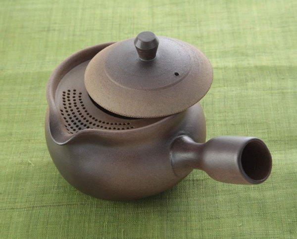 Photo2: Shikou kyusu tea pot Japanese Fujiso pottery banko Yakishime 280 ml