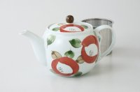 Hasami Porcelain Japanese tea pot camellia S type strainer 725ml