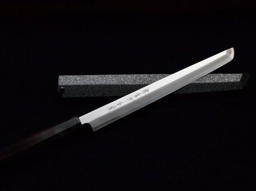 Other Images2: SAKAI TAKAYUKI Japanese knife Byakko Yasuki White-1 steel Sakimaru Takohiki (Sashimi)