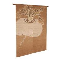 Noren Mitsuru Japanese linen door curtain kusakizome kabura turnip 88 x 150cm