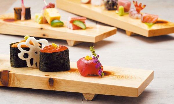 Photo3: Japanese Natural Wooden Sushi Sashimi Serving Plate yc Hinoki cypress M W36cm