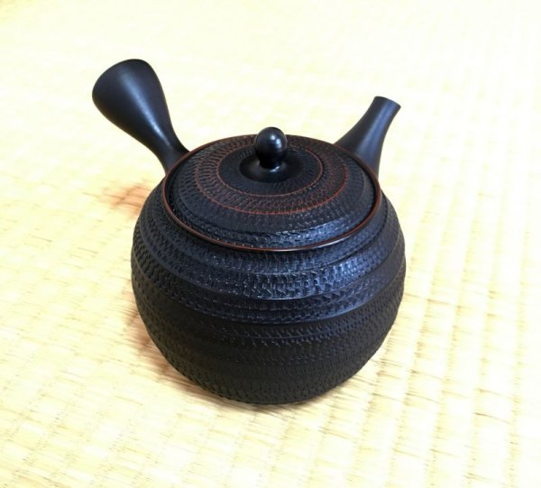 Photo1: Tokoname ware Japanese tea pot kyusu ceramic strainer sendan Gyokko 470ml