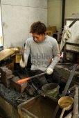 Photo12: Daisuke Nishida hand forged white 1 steel Polished wa Petty knife 150mm