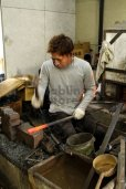 Photo13: Daisuke Nishida hand forged white 1 steel Polished funayuki Gyuto knife 180mm