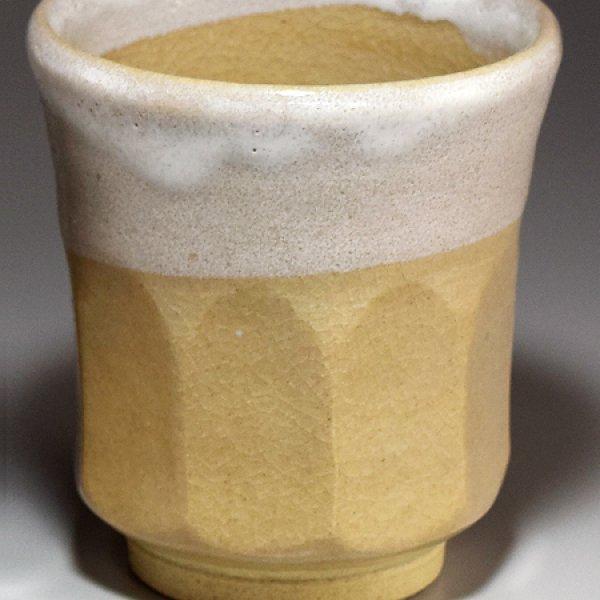 Photo3: Hagi ware Senryuzan climbing kiln Japanese tea cups kakewake set of 2