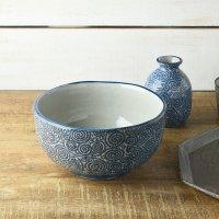Japanese Rice Soup Noodle bowl Donburi Mino ware tako karakusa koshi D181mm