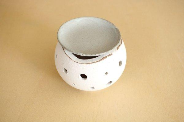 Photo2: Shigaraki pottery tsuchi Japanese tea aroma incense burner holder boro H8.5cm