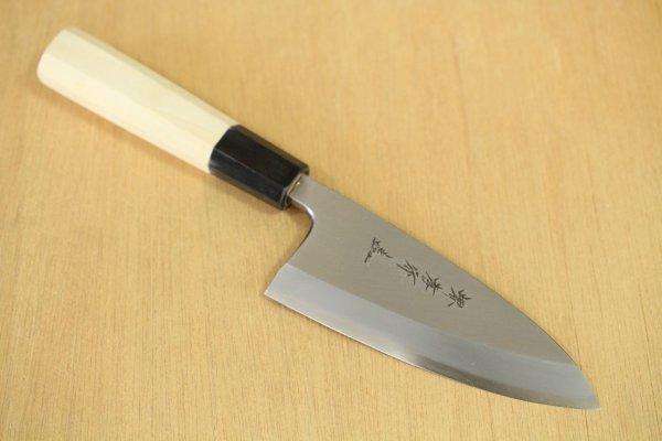 Photo1: SAKAI TAKAYUKI Chef Ginsan Japanese knife Silver-3 steel Deba