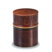 Japanese Zelkova wooden tea caddy komanuri lacquerware