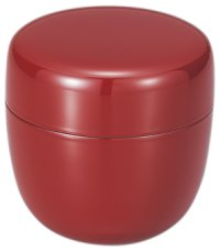 Tea Caddy Japanese Shin Natsume Yamanaka Urushi lacquer Matcha container shu red plain
