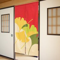 Noren CSMO Japanese door curtain colorful ginkgo cotton 85 x 150 cm