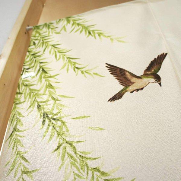 Photo2: Noren CSMO Japanese door curtain bamboo grass bird sekirei 85 x 150 cm
