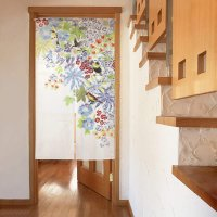 Noren CSMO Japanese door curtain bird flower ranai 85 x 150 cm