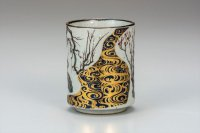 Kutani yaki pottery Korinbai Japanese yunomi cup