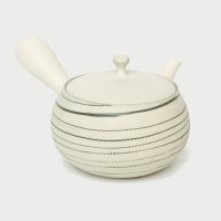 Tokoname yaki ware Japanese tea pot Tosen white marble ceramic tea strainer 250ml