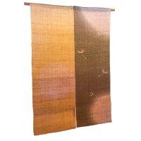 Noren Mitsuru Japanese linen door curtain Kakishibu watage 88 x 150cm