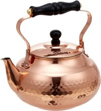 Japanese Copper kettle hammered wan Shinkodou wooden handle 2.0L