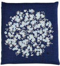 Japanese floor pillow cushion cover zabuton cotton meisen flower 55 x 59cm