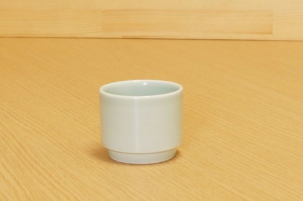 Photo2: Arita porcelain Yunomi Japanese tea cups Sencha Seiji Kaki (set of 2)