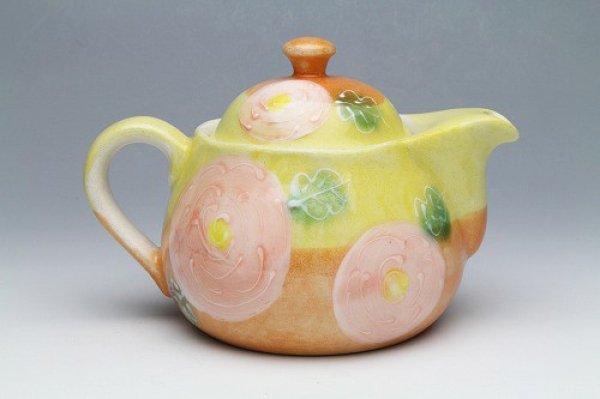 Photo1: Seto pottery Japanese tea pot koharu rose stainless tea strainer 500ml
