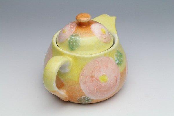 Photo2: Seto pottery Japanese tea pot koharu rose stainless tea strainer 500ml