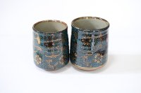 Kutani Porcelain Japanese tea cups yon seiryutessen  (set of 2)