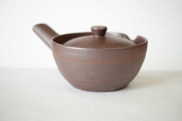 Photo1: Kiyomizu Kyoto kumagai pottery tea pot kyusu yakishime