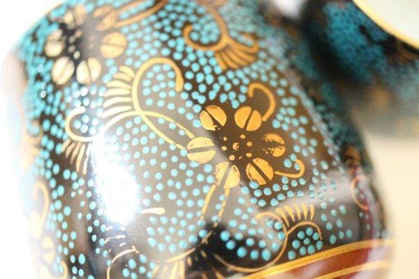 Photo2: Kutani porcelain Futatuki Yunomi kai blue gold aotibu Japanese tea cup (set of 2)