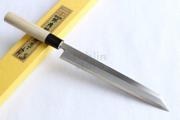 Photo1: SAKAI TAKAYUKI Japanese knife Tokujou Yasuki white-2 steel Kiritsuke kengata sashimi