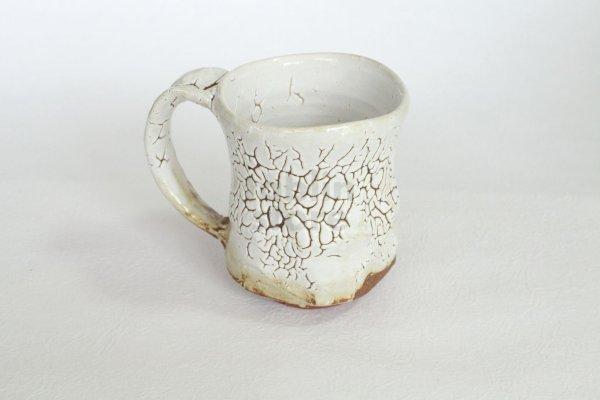 Photo1: Hagi ware Japanese pottery mug coffee tea cup Kashun yuki 280ml