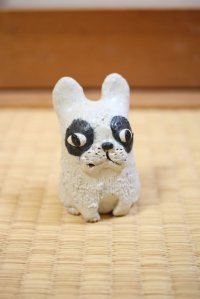 French Bulldog Shigaraki pottery Japanese doll H8cm