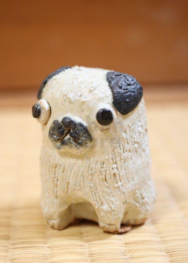 Photo1: pug dog Shigaraki pottery Japanese doll H6cm