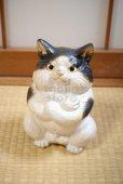 Photo12: Shigaraki Japanese pottery figurine Boss cat H 22.5 cm