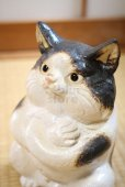 Photo10: Shigaraki Japanese pottery figurine Boss cat H 22.5 cm