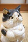Photo9: Shigaraki Japanese pottery figurine Boss cat H 22.5 cm